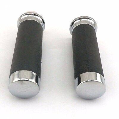 25mm Gasgriffe Schwarz Chrom Griffe Gas Satz Für Retro Roller BENZHOU ZNEN