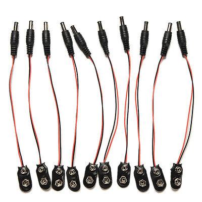 2pcs 9V DC Battery Power Cable Plug Clip barrel jack connector for Arduino FJ