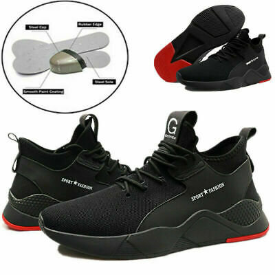 UK Mens Safety Shoes Trainers Steel Toe Work Boots Sports Hiking Shoes Sneakers 3