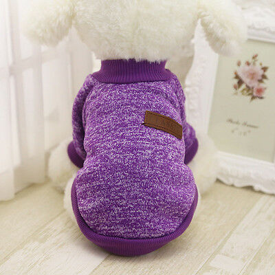 Cotton Pet Cat Dog Jacket Winter Clothes Small Puppy Doggie Sweater Coat Apparel 6