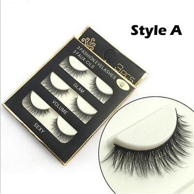 AU Stock 12 Pairs 3D Natural Long Thick Makeup Eyelashes Cross False Eye Lashes 6