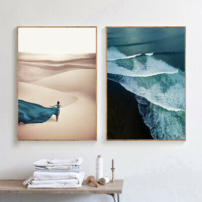 Ocean Waves Beach Poster Seascape Canvas Wall Print Nordic Decoration Picture 4