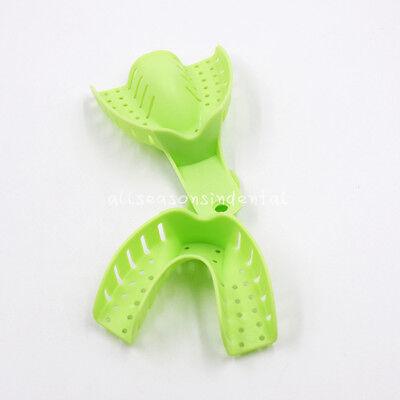 10 Pcs Autoclavable Dental Plastic Impression Trays Central Denture Disposable 8