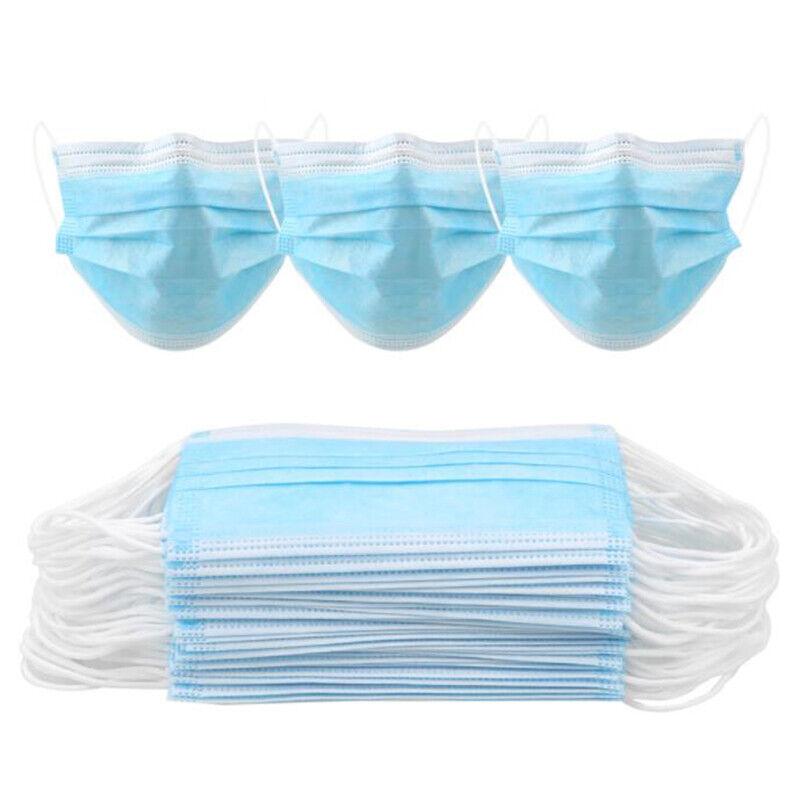 10/20/50X mascarillas desechables quirúrgico médico dental industrial 3 capas 4