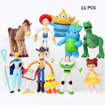 Toy Story 4 Buzz Lightyear Woody Bulleye Forky Figurine Cake Topper Jouet Cadeau 2