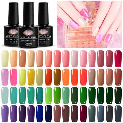 MEET ACROSS Nail Art Gel Color Polish Soak-off UV/LED Manicure DIY Varnish 7ml 2