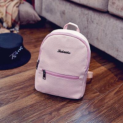 cf4f687b0c2e ... Women PU Leather Backpacks Mini Cute Travel Rucksack Handbags School  Bag Simple 8