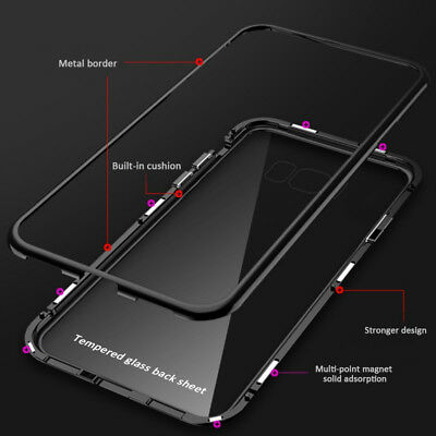 Magnetic Tempered Glass Case Cover Samsung Galaxy S8 S9 S10 Plus S10E Note 8 9 5