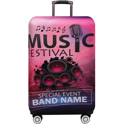 """Elastic Printed Luggage Suitcase Skin Cover Protector 18 -32"""" Thick Anti Scratch 7"""