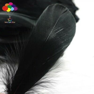 100pcs Natural Goose Feathers 8-12 Cm Swan Plume DIY Carnival Decoration Craft 4