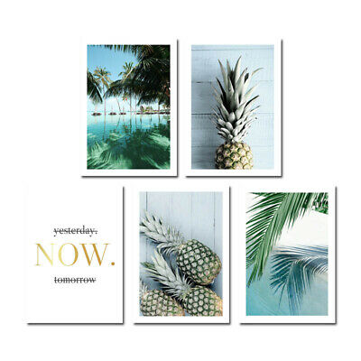 Pineapple Ocean Beach Canvas Poster Seascape Print Tropical Decoration Picture 6