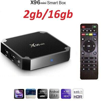 Nouveau 2019 X96 mini 4K récepteur décodeur satellite TV Box Android 7.1.2 WiFi 4