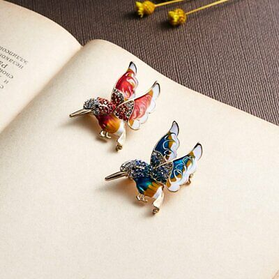 Hot Sale Rhinestone Crystal Animal Butterfly Cat Dog Brooch Pin Women Jewelly 8