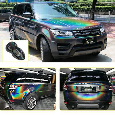 Rainbow Laser Grey Chrome Car Vinyl Wrap Sticker Sheet Film Air Bubble Free DIY 4