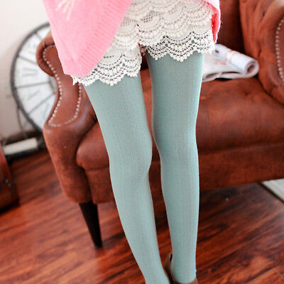 Women's Winter Cable Knit Sweater Footed Tights Warm Stretch Stockings Pantyhose 3