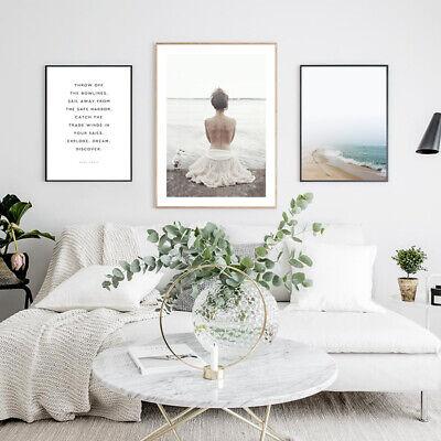 Coastal Beach Canvas Fashion Poster Seascape Nordic Wall Art Print Home Decor 4