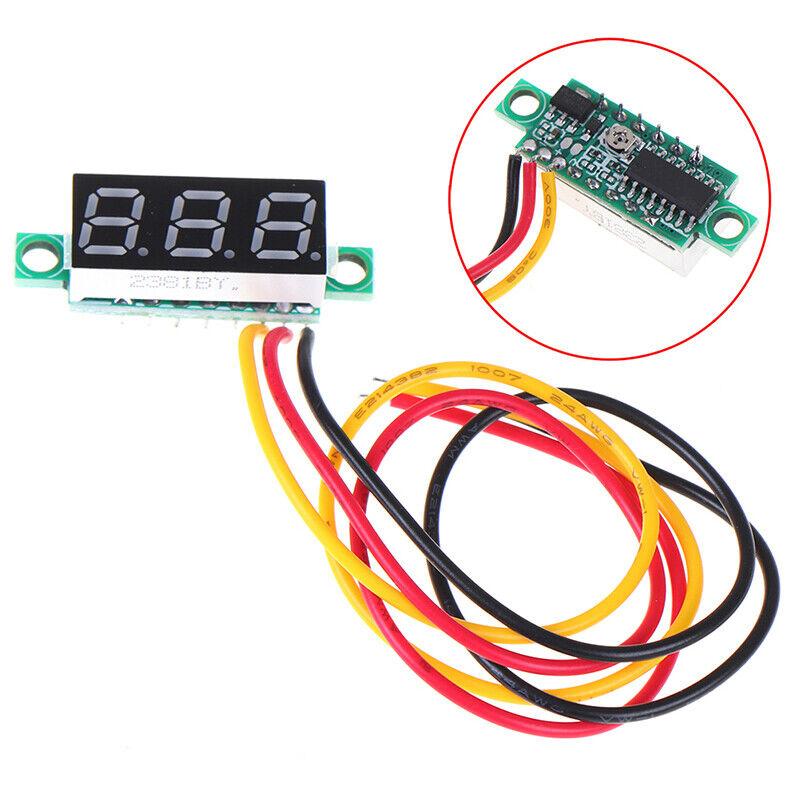 0.28 inch DC 0-100V 3-WireGauge voltage meter Voltmeter With LED Display DigitDR 2