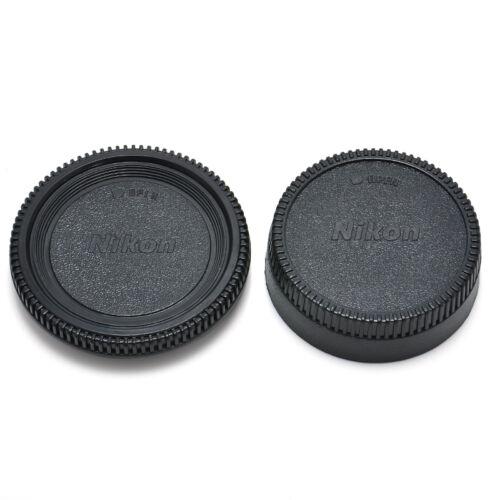 For Nikon AF AF-S Lens DSLR SLR Camera New Body Front + Rear Lens Cap Cover F9 2