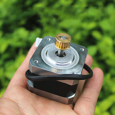 NEMA17 Stepper Motor 1.8 Degree 2-phase 4-wire Synchronous Pulley For 3D Printer 2