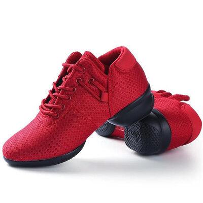 35-41 Ladies Lycra Dance Shoes Comfortable Round Toe 4CM Heel Sports Trainers 11