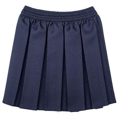 Girls School Uniform Box Pleated Elasticated waist school kids Skirt All Ages 6