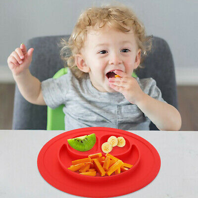 Cute Silicone Happy Baby Kids Suction Table Food Tray Placemat Plate Bowl Mat 6