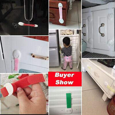 Baby Kids Safety Lock Box Drawer Cupboard Cabinet Fridge Door Child Proof 7Color 12