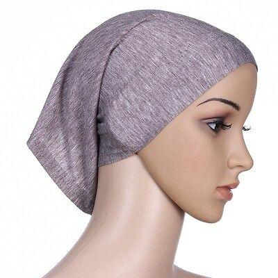 Muslim Women Hijab Under Scarf Inner Cap Bone Bonnet Neck Cover Cap Head Wrap 11