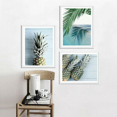 Pineapple Ocean Beach Canvas Poster Seascape Print Tropical Decoration Picture 2