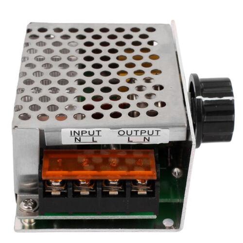 4000W 220V AC SCR Motor Drehzahlregler Modul Spannungsregler Dimmer DE