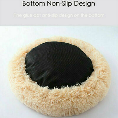 US Fur Donut Cuddler Pet Calming Bed Dog Beds Soft Warmer Medium Small Dogs Cats 9