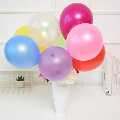 100Pcs Colorful Pearl Latex Balloon Celebration Party Wedding Birthday 10 inch 7