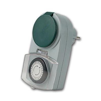 analoge Tages-Zeitschaltuhr, Aussen IP44, max 3500W 230V Schaltuhr Zeitschalter 2