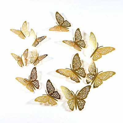 ... Pack of 12 Christmas Tree Glitter 3D Butterfly / Butterflies Decorations 4