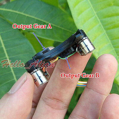 2PCS 2-Phase 4-Wire Miniature 8mm Micro Mini Stepper Motor Copper Gear Camera 5