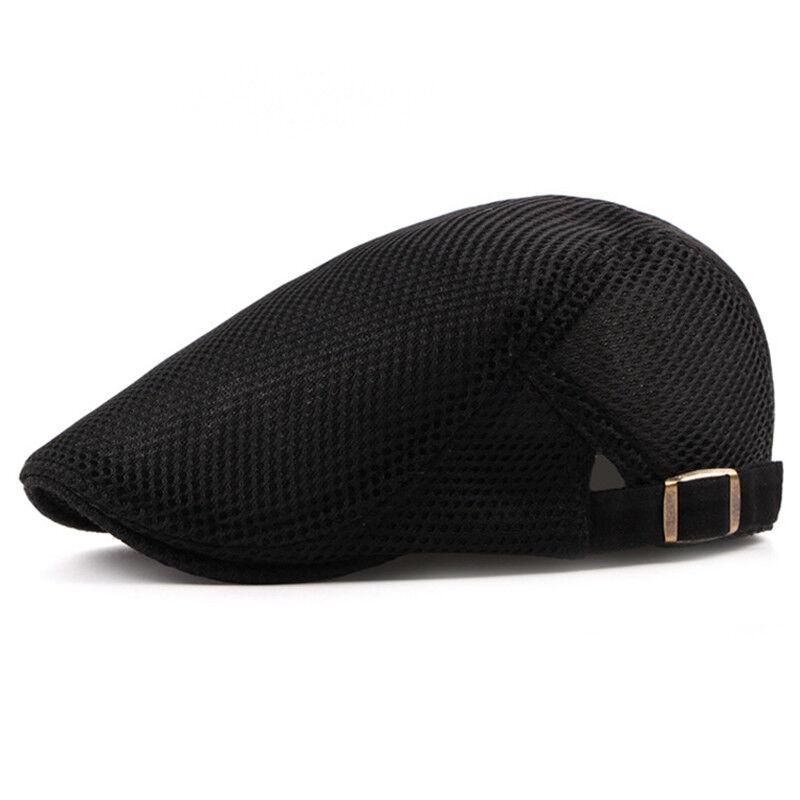 f17e7713991e6 Summer Men Newsboy Ivy Gatsby Cap Hat Mesh Cabbie Golf Driving Sun Flat  Beret 2 2 of 10 ...