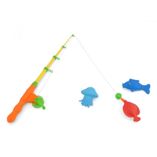 Set Magnetic Fishing Fish Rod Model Net Game Fun Toy Kid Children Baby Bath Time