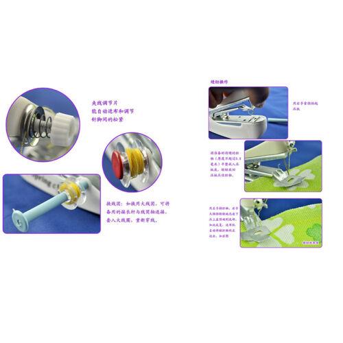 Mini macchina da cucire a mano portatile cordless tessuto portatile WQQ 4