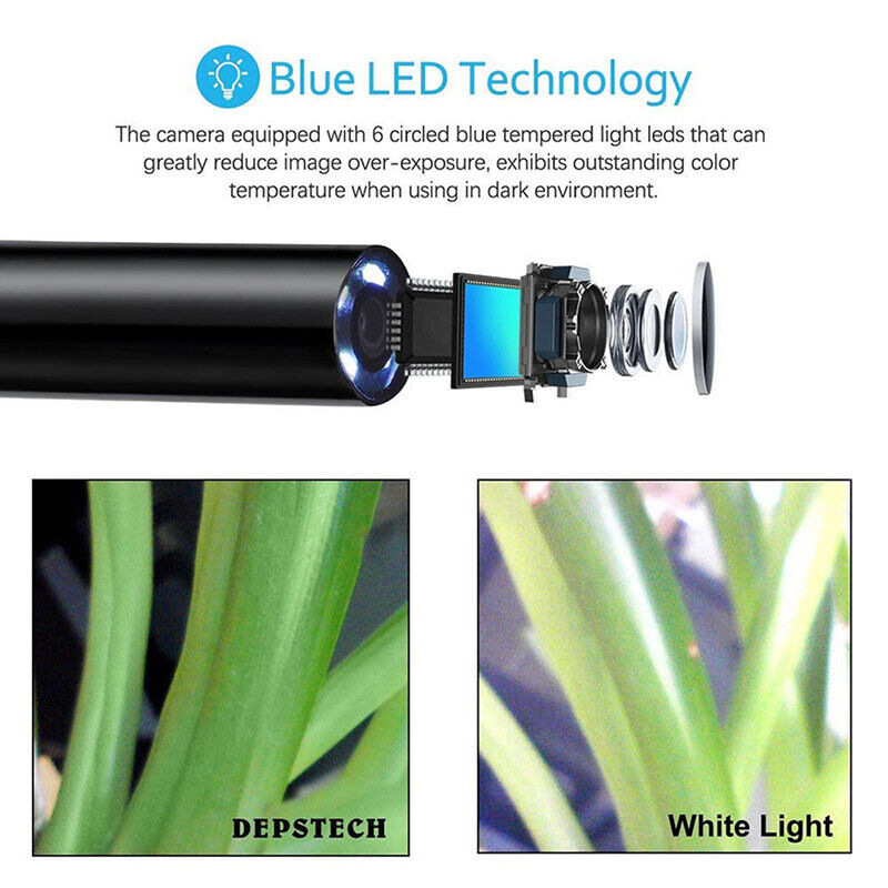 3 in1 USB Type-C Endoscope Inspection Borescope 5.5/7/8mm Lens HD Camera IP68 OI 10
