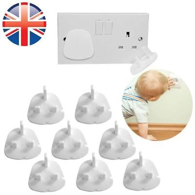 12 Child Safety UK Plug Socket Covers Mains Electrical Protector Inserts Guard 4