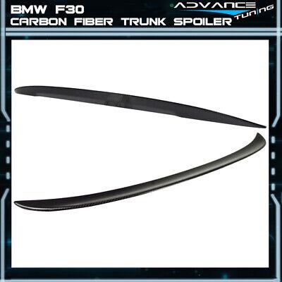 Fits12-18 BMW F30 4Dr Sedan High Kick P Style Trunk Spoiler Carbon Fiber CF