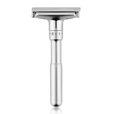 Men's Traditional Classic Double Edge Shaving Safety Razor Shaver+5 Blades Free 2