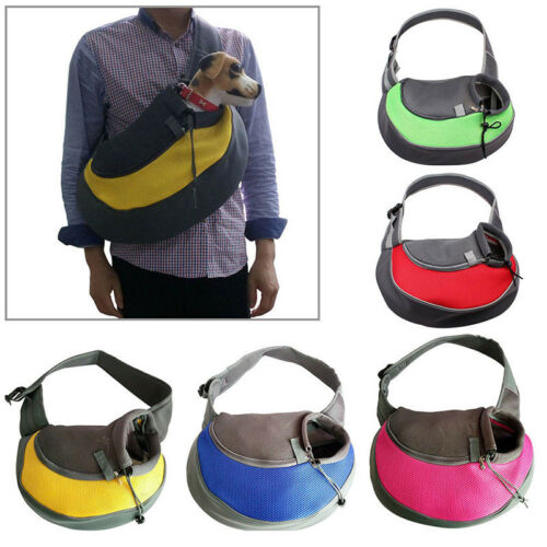Pet Dog Cat Puppy Carrier Mesh Comfort Tote Shoulder Travel Bag Sling Backpack 3