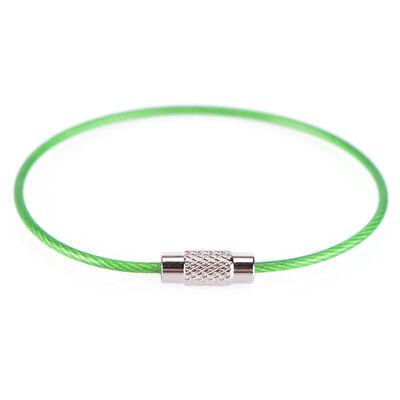 Catene dell'anello chiave 5x acciaio inox filo portachiavi cavo escursione`ester 10