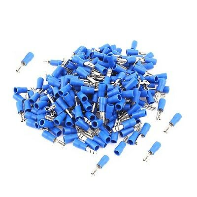 100Pcs  Blue Female 2.8mm Spade Insulated 16-14AWG Wire Crimp Terminals NEW 4