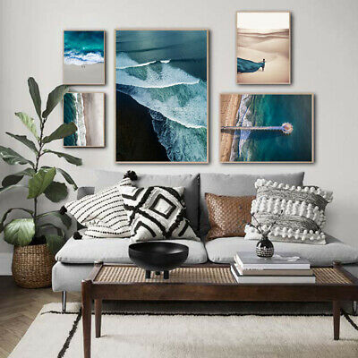 Ocean Waves Beach Poster Seascape Canvas Wall Print Nordic Decoration Picture 3