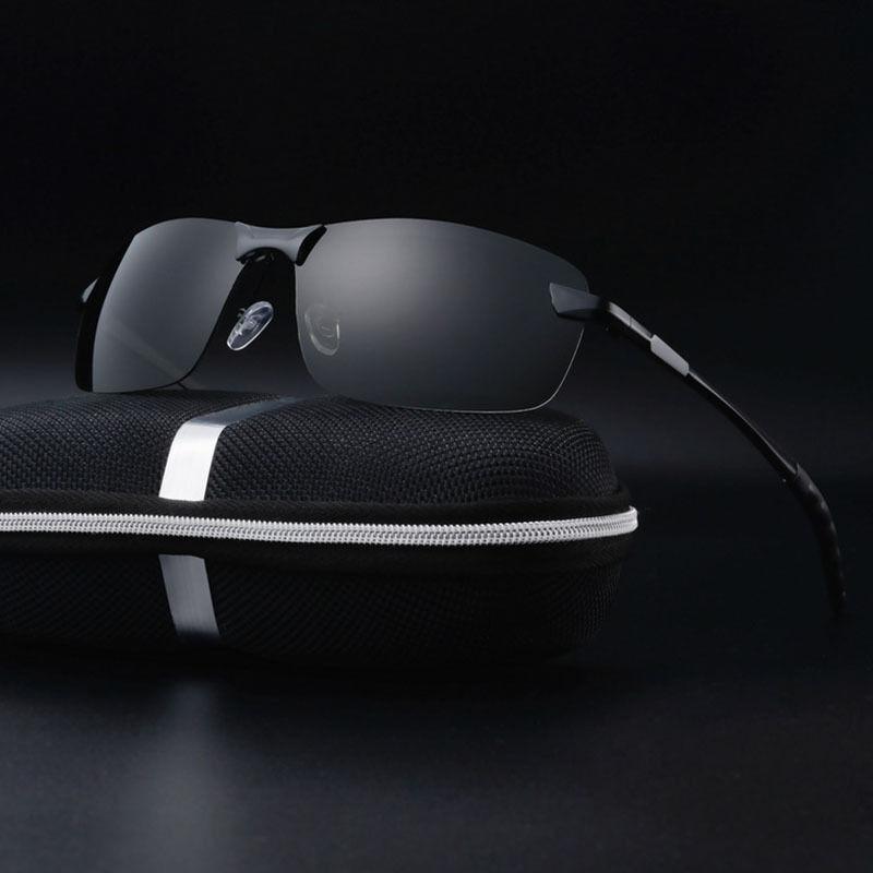 Mens Pro lunettes de soleil polarisées police métal demi cadre lunettes de solei 3