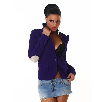 size 40 57c28 12397 GIACCA CORTA DONNA Blazer Slim Casual Cappotti giacche Moda Giovane