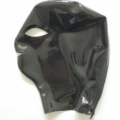 Latex Hood Handmade Rubber Mask for Catsuit Beautiful Girl Club Wear Costumes 2