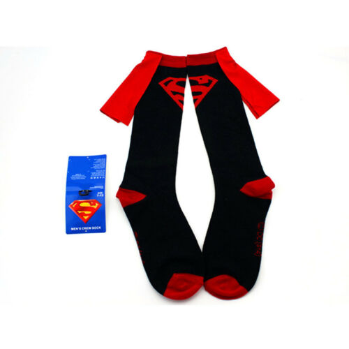 Women Men Comic Hero Costume Wonder Woman Batman Superman Cape Socks Knee High